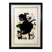 Joan Miro 18931983 Spain Le Gourou Deploye Litho