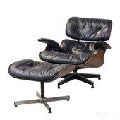 Herman Miller Eames Black Lounge Chair & Ottoman