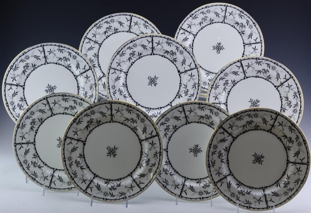 Tiffany & Co Hammersley Bamboo Black Dinner Plates