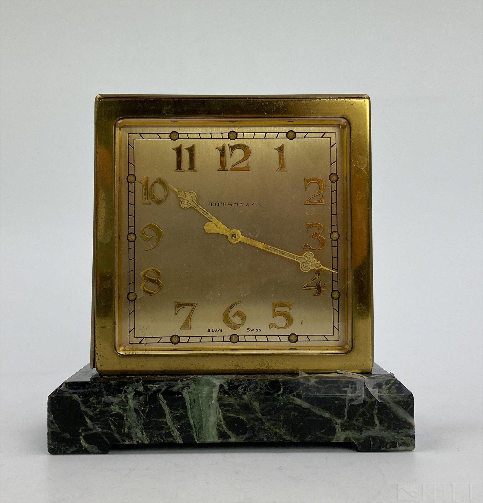 Art Deco Tiffany & Co. Double Sided Partners Clock