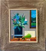Larry Zingale American Folk Art Naive Oil Painting