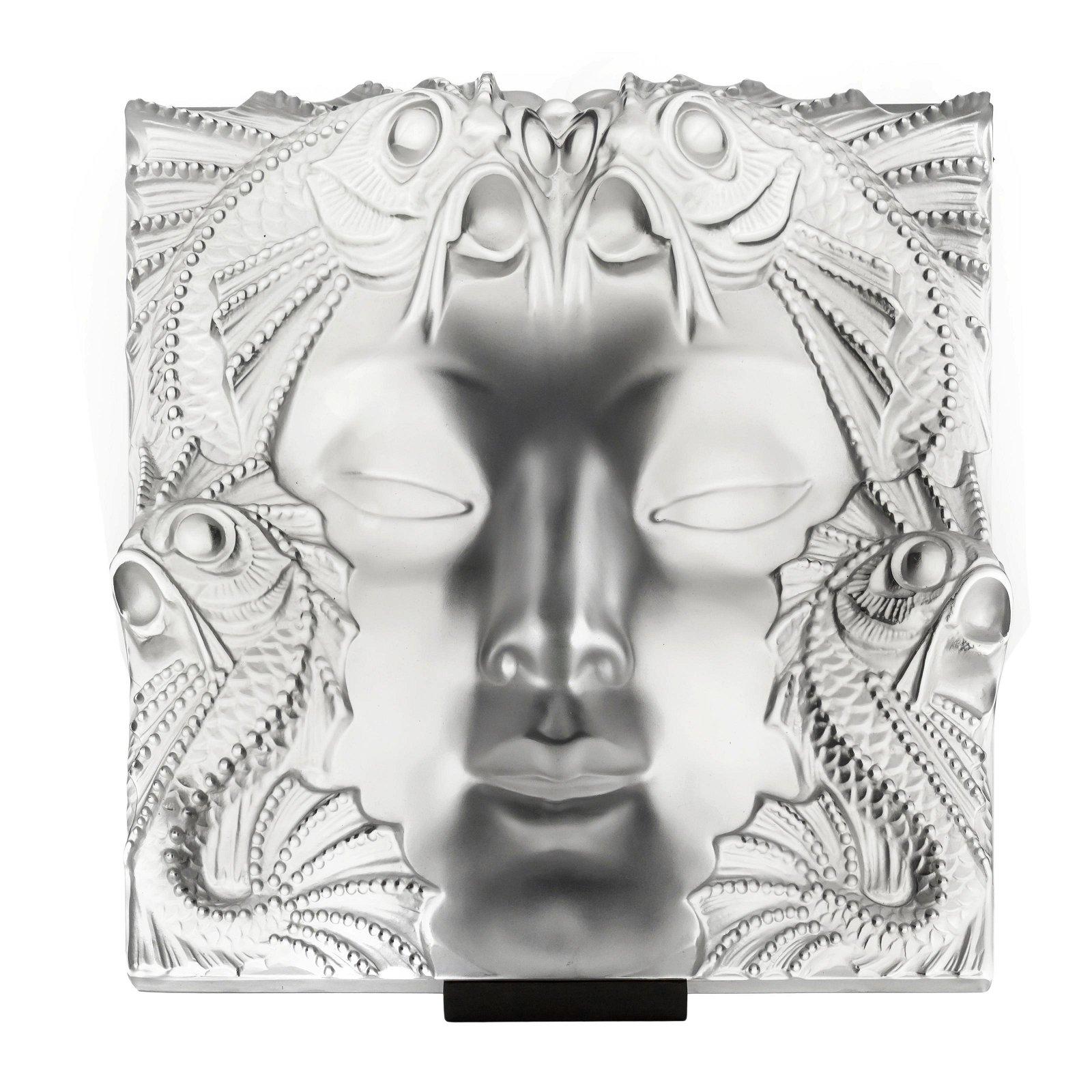 Lalique French Art Glass Masque de Femme Sculpture