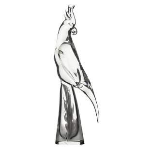 """Licio Zanetti Murano Art Glass 19"""" Bird Sculpture"""