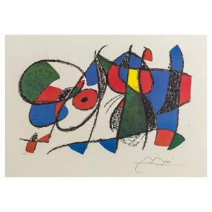 Joan Miro Originale Non Firmata Abstract Litho COA