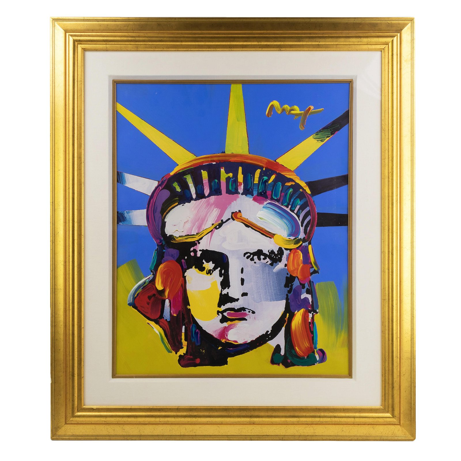 Peter Max (American b.1937) Delta Liberty Painting