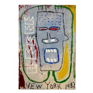 New York NY 1982 Tribute to Jean Basquait Painting