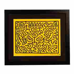 Pop Modern NY Graffiti Painting after Keith Haring
