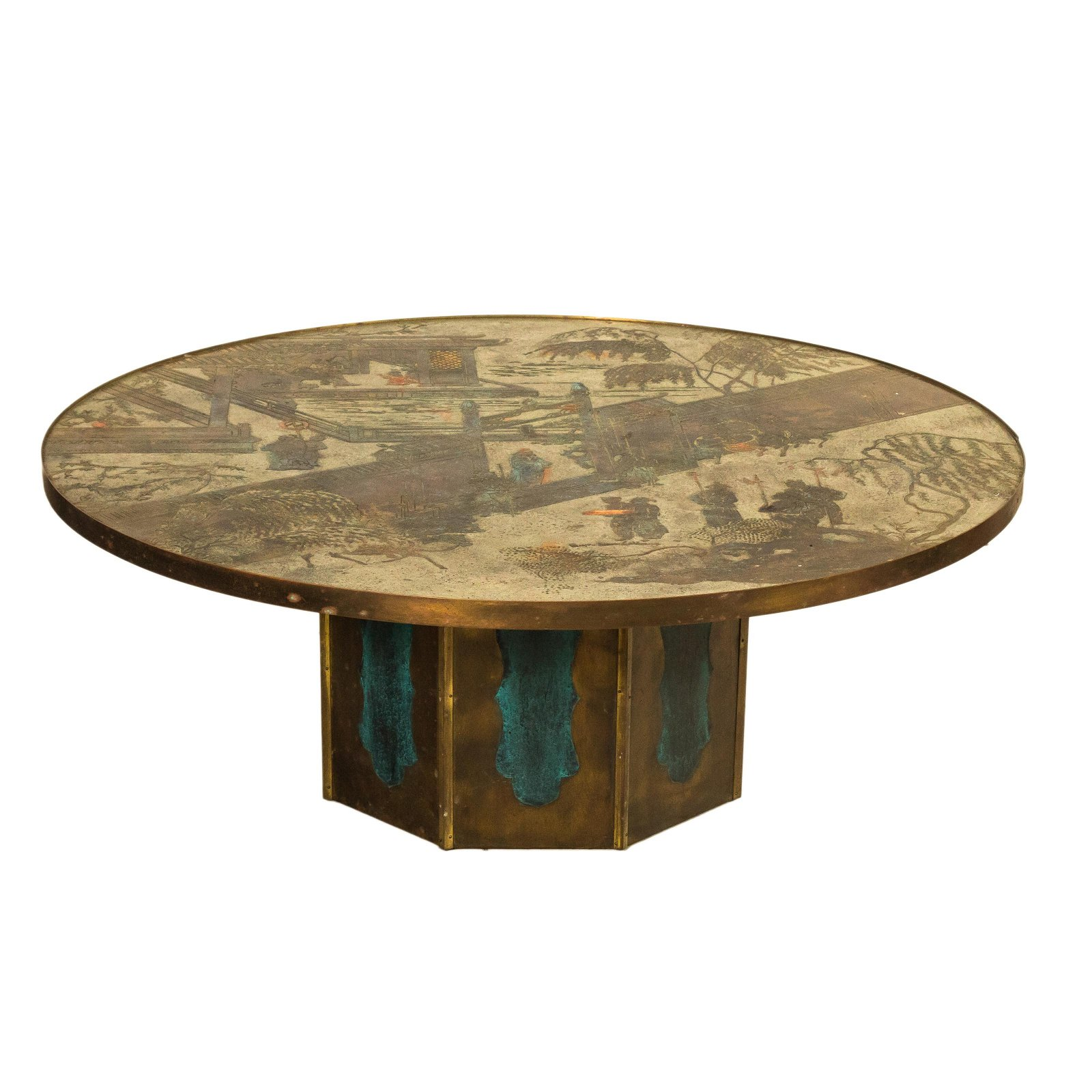 "Philip & Kelvin LaVerne ""Chan"" Round Coffee Table"