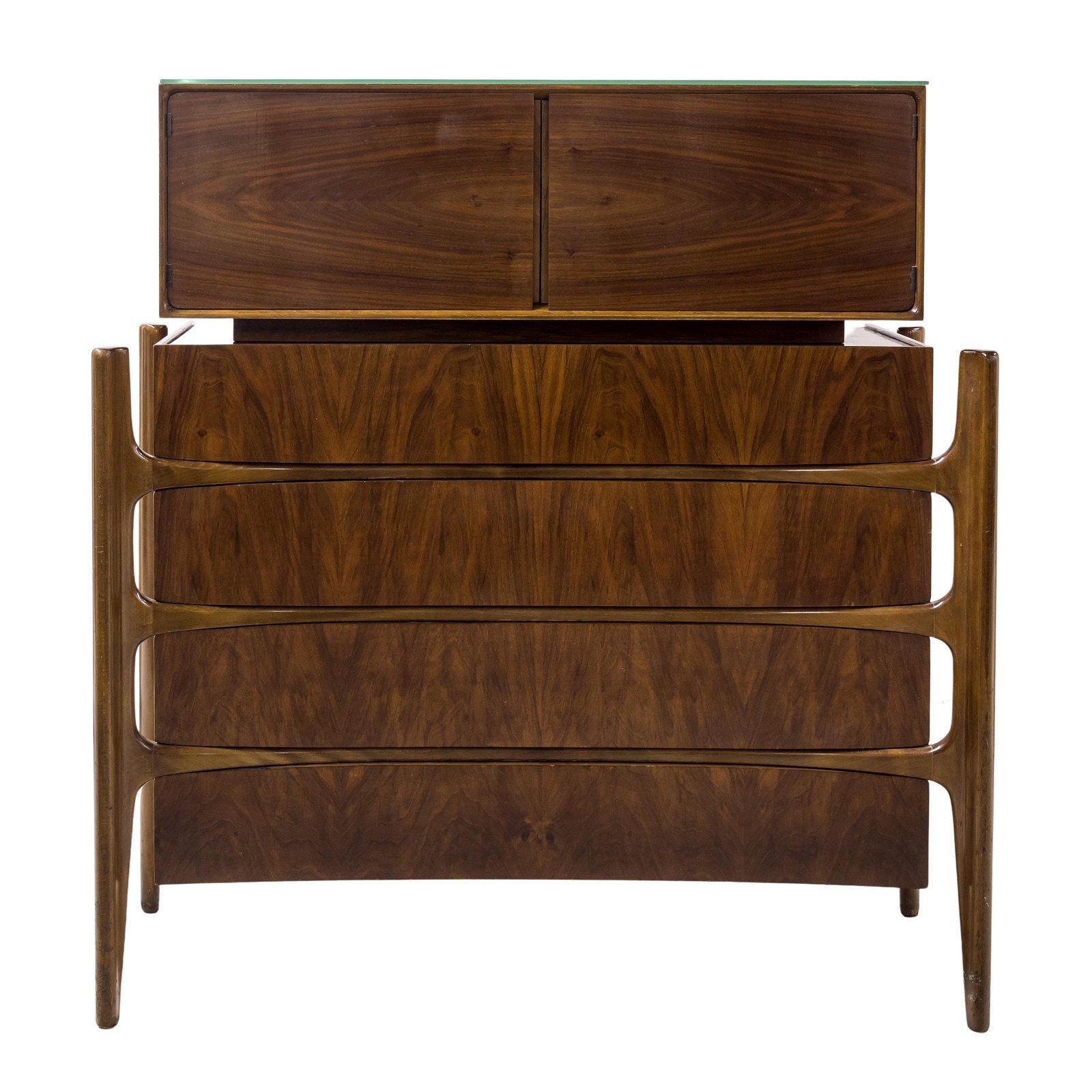 William Hinn Mid Century Modern MCM Walnut Dresser