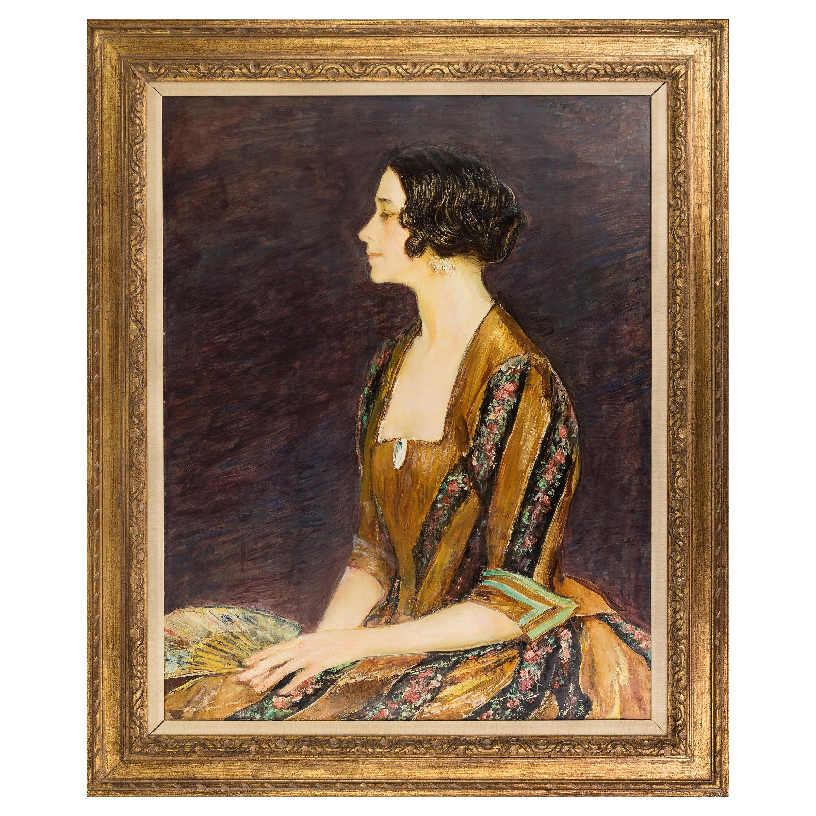 Maurice Fromkes NY 1872-1931 Portrait Oil Painting
