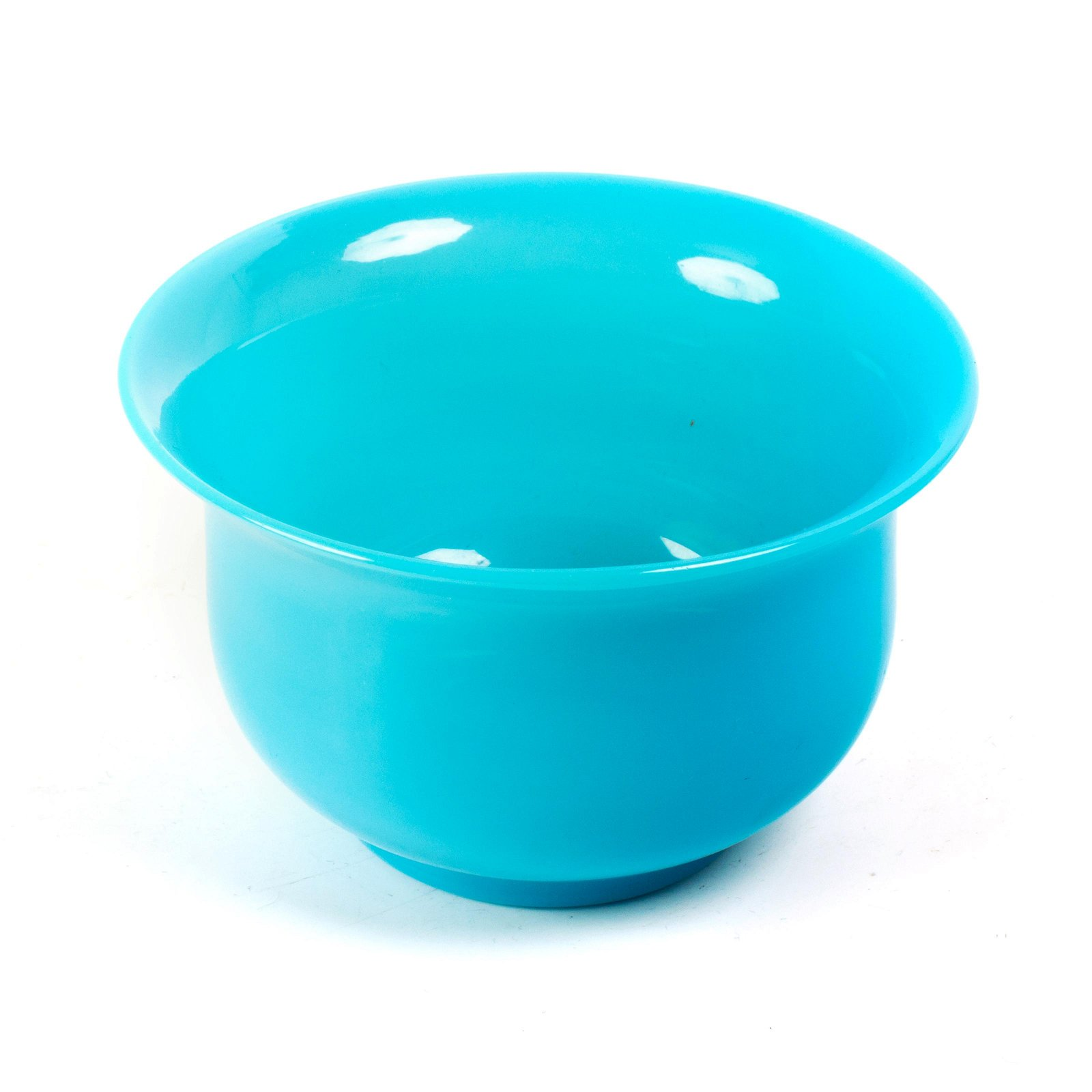Fine Victorian French Blue Opaline Art Glass Bowl