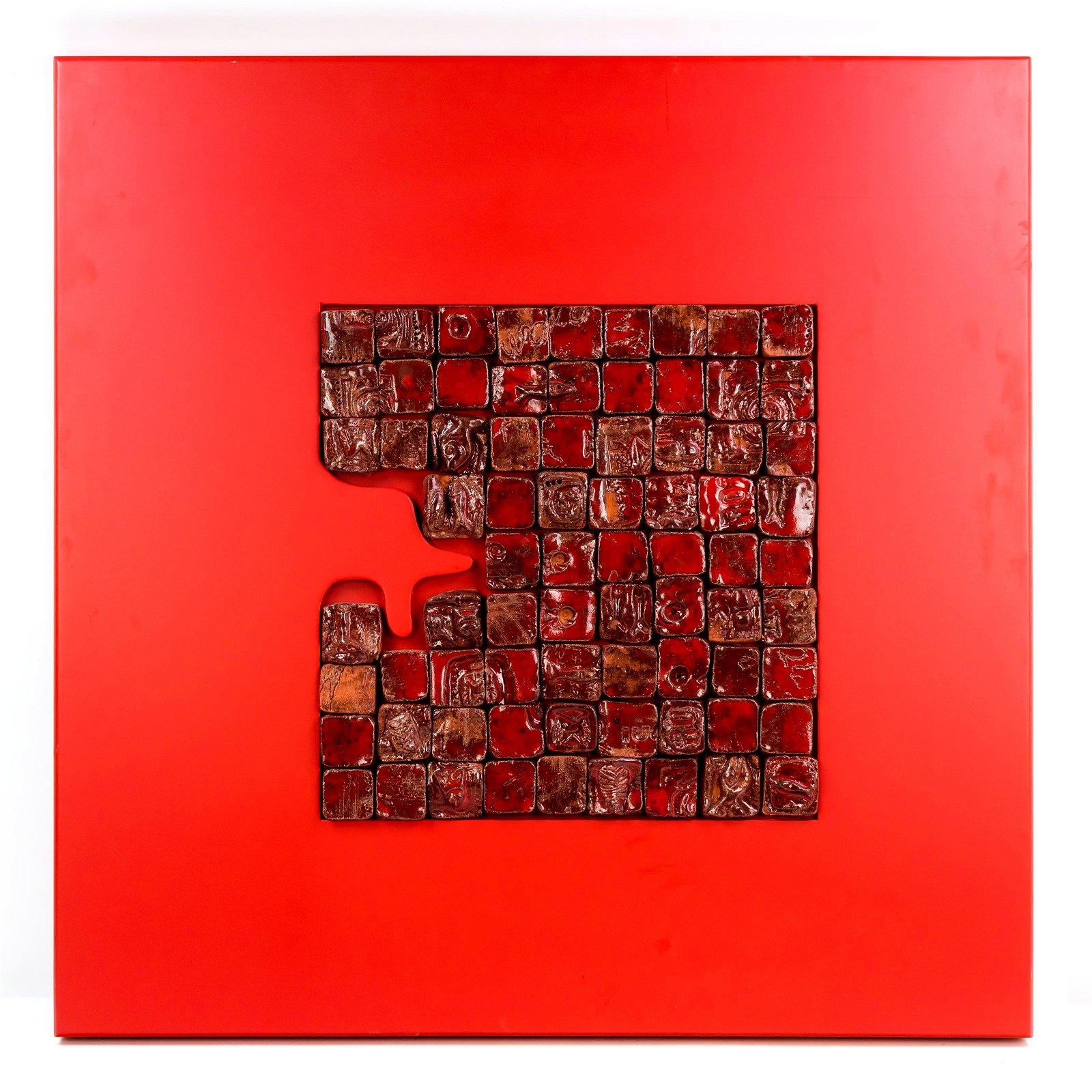 Nino Ventura b.1959 Italian Red Pottery Sculpture