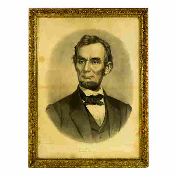 Currier & Ives Lincoln Martyr President Lithograph