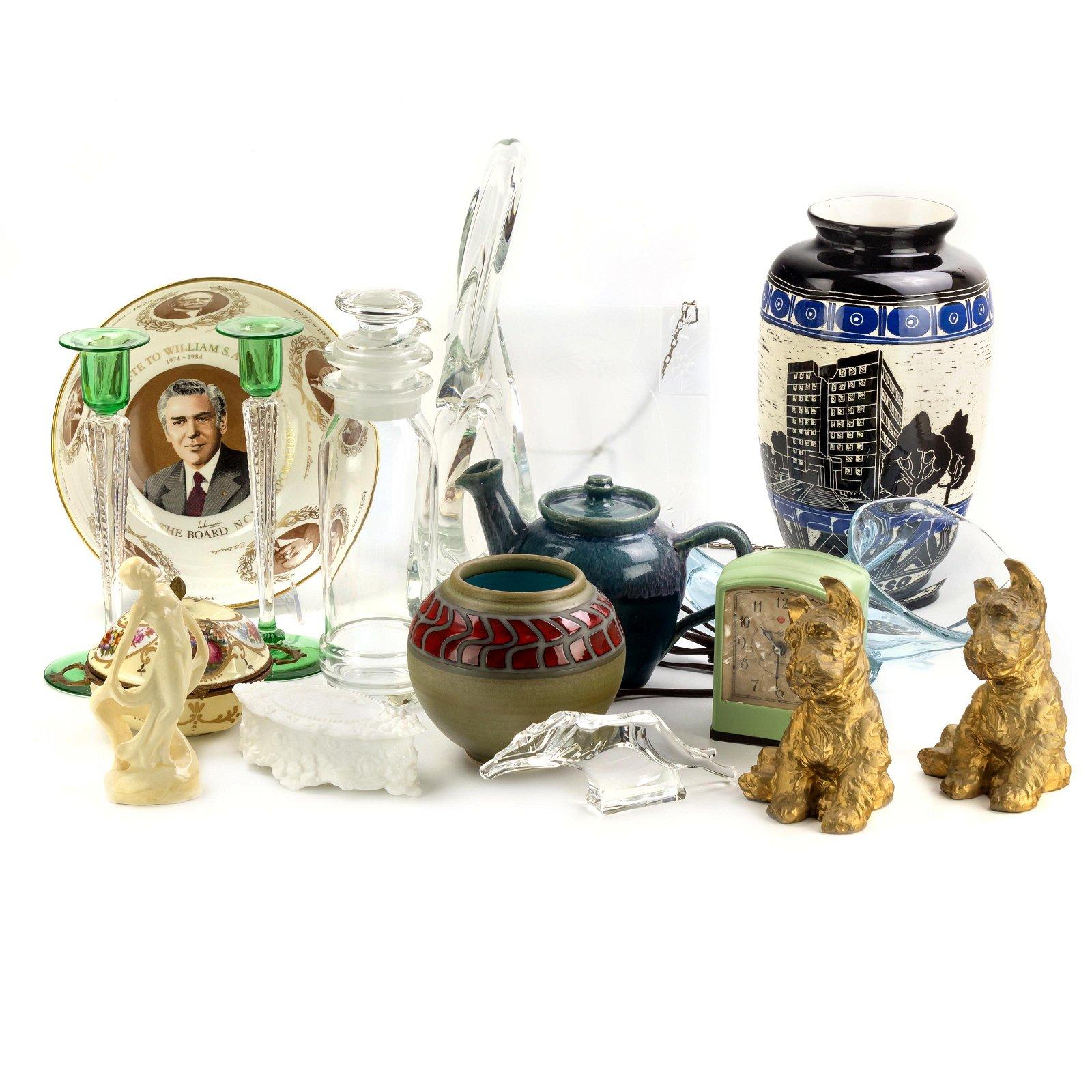 ESTATE LOT Porcelain, Crystal & Dore Collectibles