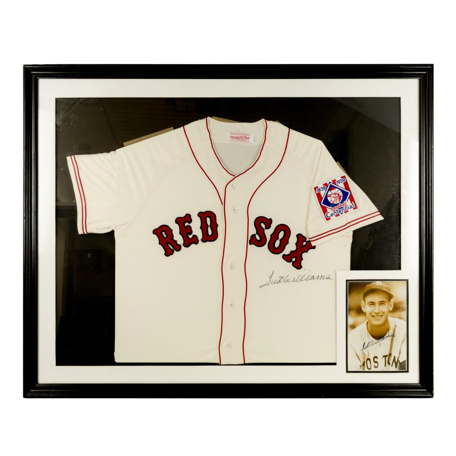 Ted Williams SIGNED Boston Red Sox Jersey & Photo