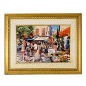 Modern Contemporary Parisian Oil Canvas Painting