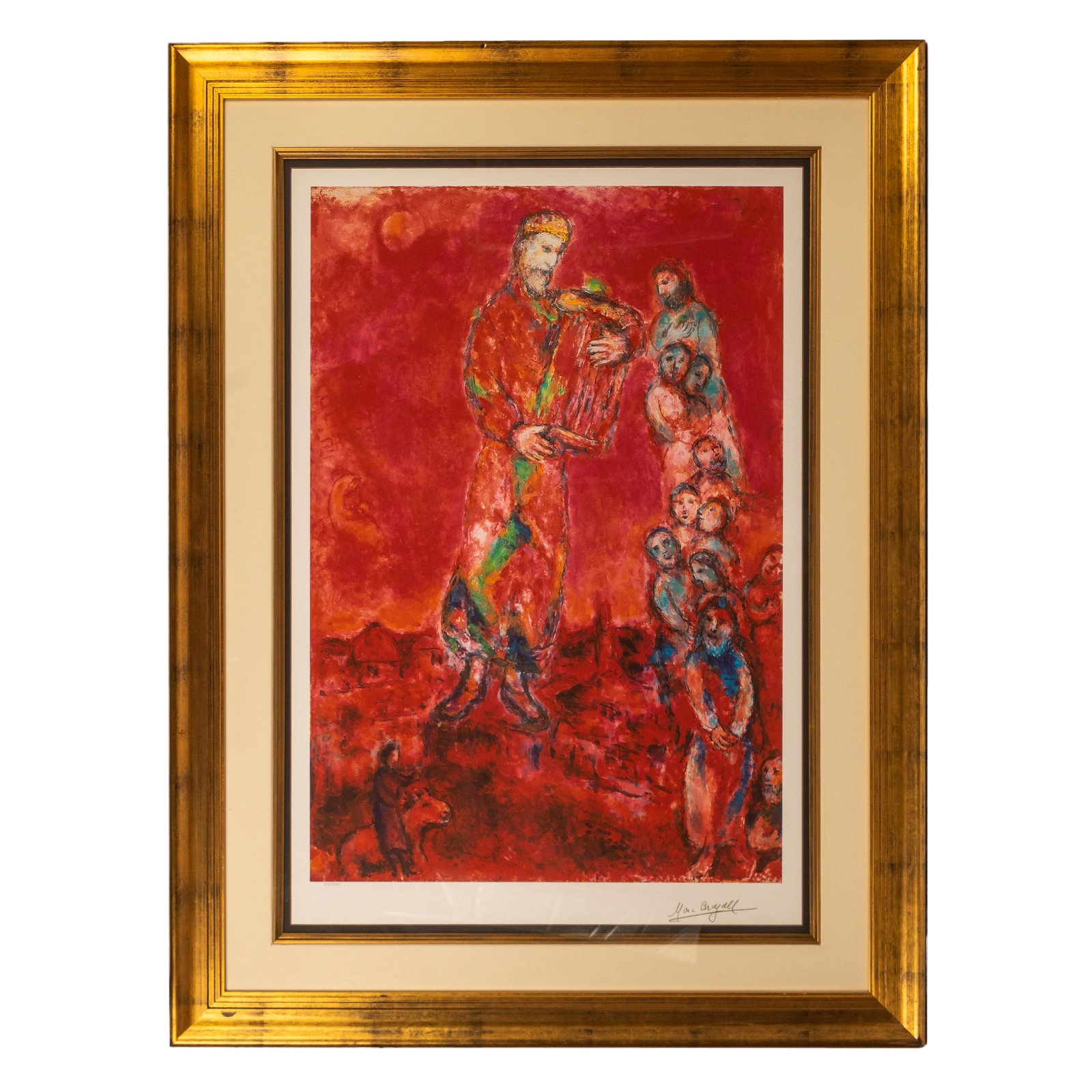 Marc Chagall SIGNED King David & Lyre Giclee Print