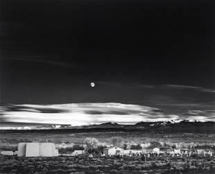 Ansel Adams 1902-1984 American Moonrise Photograph