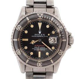 Rolex 1680 Red Submariner Dive Wrist Watch c.1971