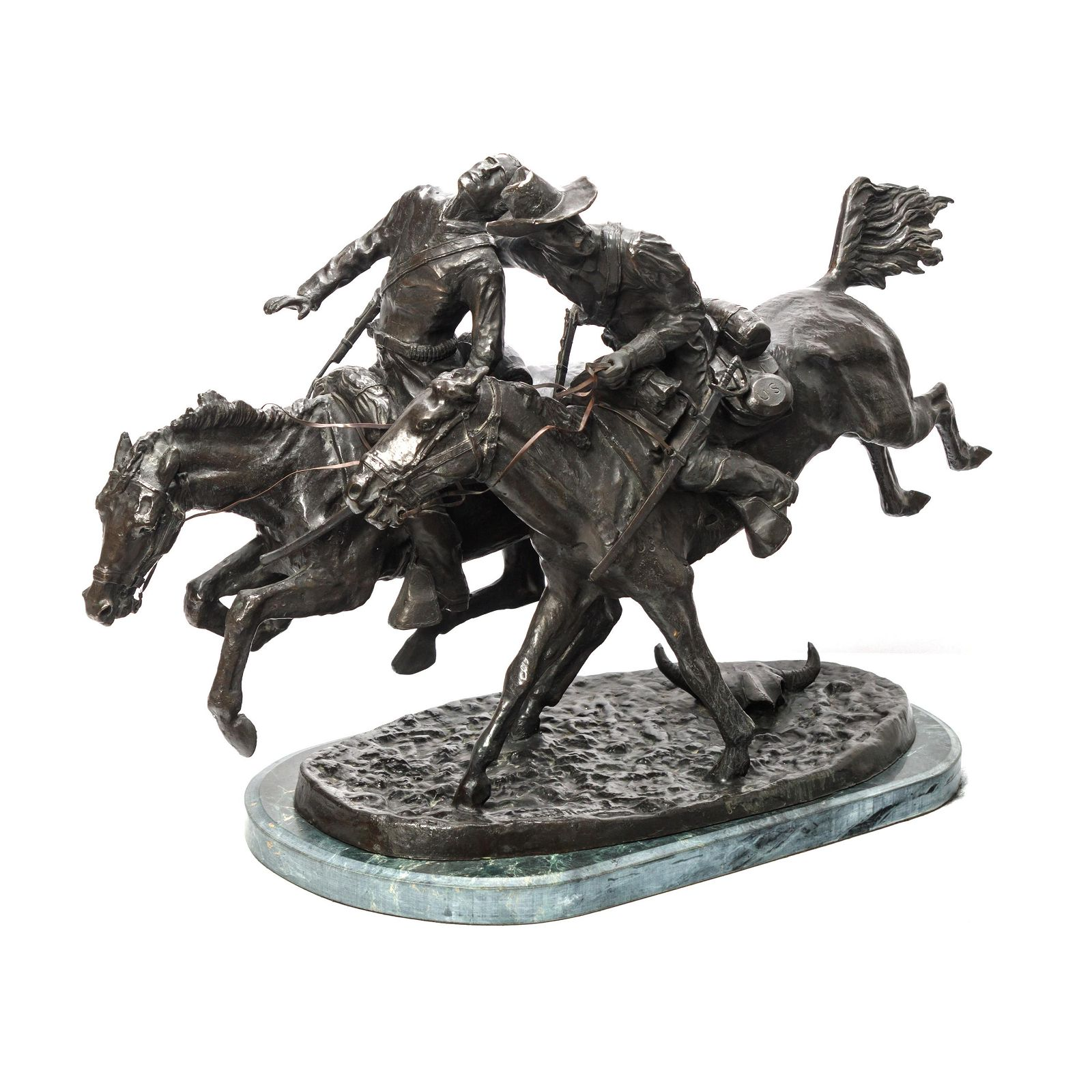 Bronze Equestrian Statue After Frederic Remington