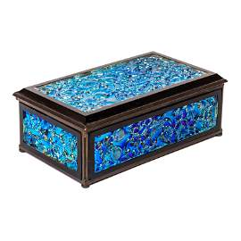 LCT Tiffany Furnaces Favrile Studio Art Glass Box