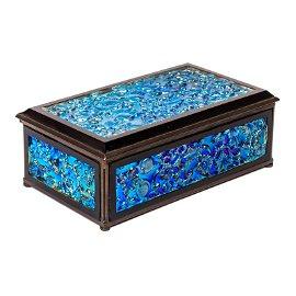 LCT Tiffany Furnaces Favrile Studio Art Glass Box