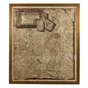 G.B. Piranesi 1720-1778 LG 18thC. Antique Rome Map