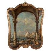 View of Venice Painting Manner Francesco Lazzaro Guardi