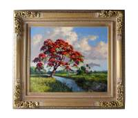 Albert Backus (1906-1990) Royal Poinciana Painting