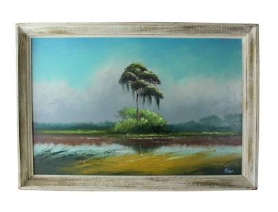 Alfred Hair (1941-1971) Florida Highwaymen Painting