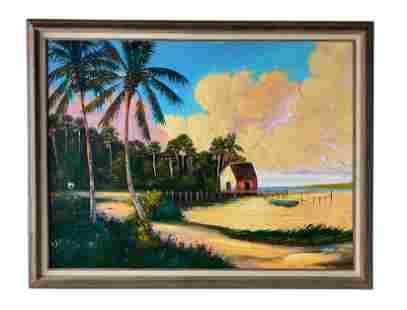 Johnny Daniels (1954-2009) Florida Highwaymen Painting