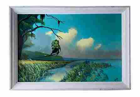 Rodney Demps (1953-2020) Florida Highwaymen Painting
