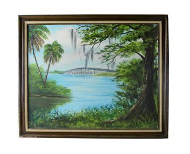 R.L. Robert Lewis (b.1941) Florida Highwaymen Painting