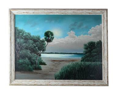 Ellis Buckner (1943-1991) Florida Highwaymen Painting