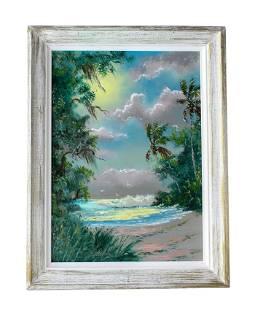 Sam Newton (b.1948) Florida Highwaymen Oil Painting