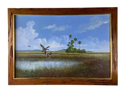 Robert Butler (1943-2014) Florida Highwaymen Painting