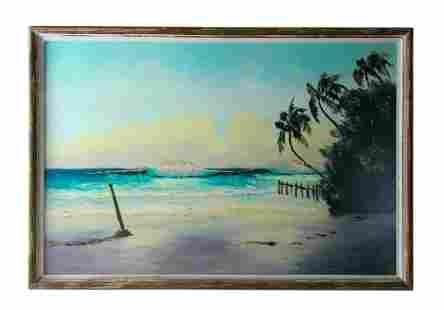 Hezekiah Baker (1940-2007) Florida Highwaymen Painting