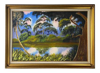Carnell Smith (1950-2015) Florida Highwaymen Painting