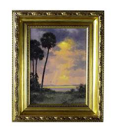 Albert Backus (American 1906-1990) Sun Ray Oil Painting