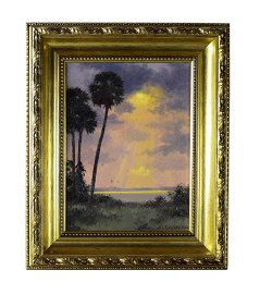 Albert Backus (American 1906-1990) Sun Ray Oil Painting