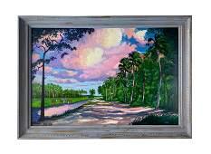 Livingston Roberts (1941-2004) FL Highwaymen Painting
