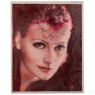 Rupert J Smith Greta Garbo Silkscreen after Warhol