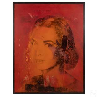 A. Vigilante b. 1964 Grace Kelly Pop Art Painting