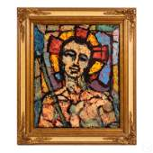 Jesus Christ Halo Superstar Modernist Oil Painting