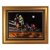 Michael Godard b1958 Abstract Racing Olives Giclee