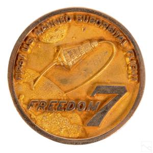 NASA 10K Gold Freedom 7 Mission Medal Space Coin