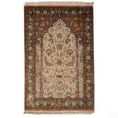 "Fine Oriental Full Silk Carpet Area Rug 48"" x 78"""