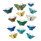 David Andersen Sterling  Guilloche Butterfly Pins