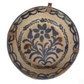 Spanish Moorish Antique 9 Primitive Pottery Bowl