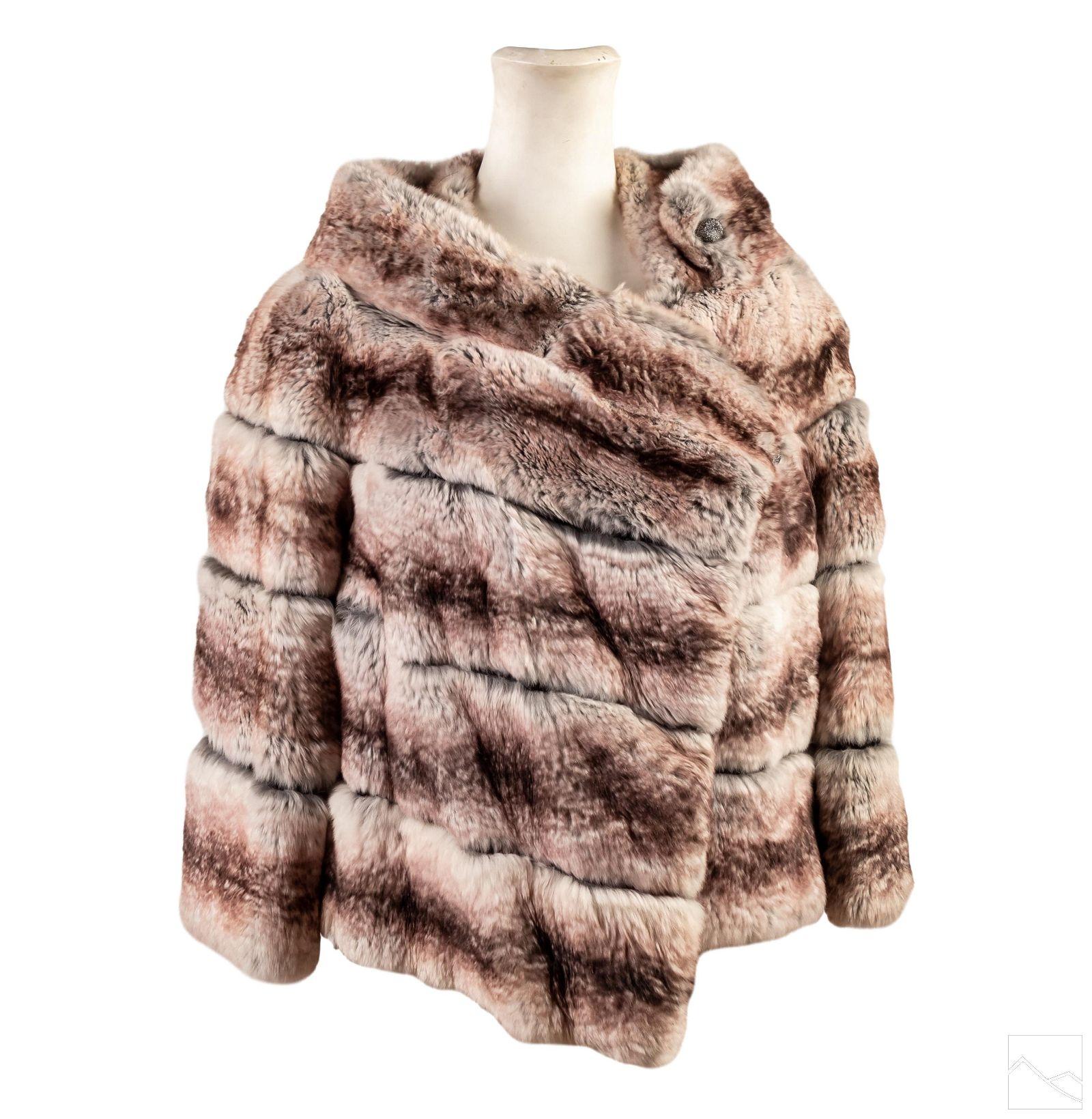 Silver Chinchilla Vintage Fur Shoulder Wrap Stole